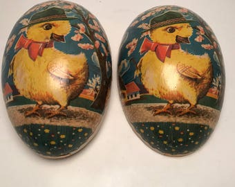 Antique vintage Cardboard Easter egg box