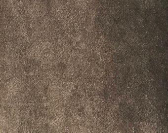 """Fabric dark charcoal velvet w54"""""""