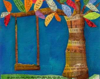 colorful swing - limited edition print