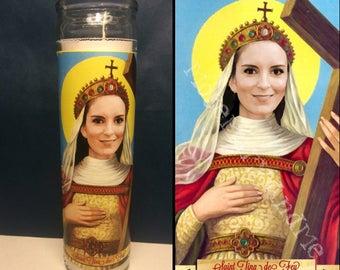 Tina Fey Devotional Prayer Saint Candle