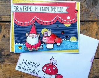 A friend like gnome one else card