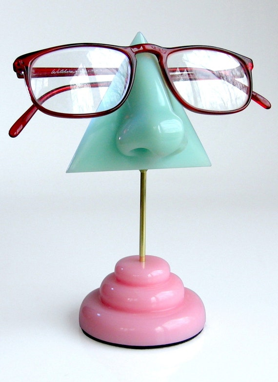 Awesome Eyeglass Holder Mint Green Nose Eyeglass Stand Reading