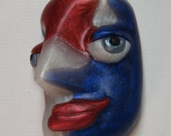 Captain America, our red, white and blue face soap