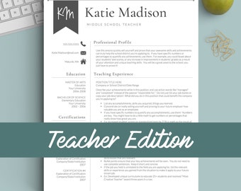 teacher resume template for word pages 1 3 page resume for teachers - Teacher Resume Template
