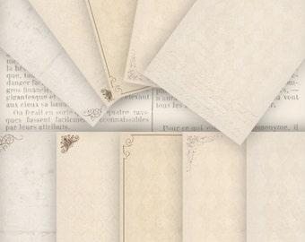 Vintage Stationery Paper 8.5 x 11 inch printable paper crafting crafts letter writing digital download instant download collage - VDSTVI0817