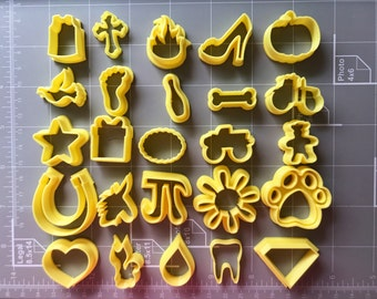 Miniature Cookie Cutters Set / fondant cutter set