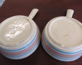 Vintage Blue and Pink McCoy Bowls Set of 2