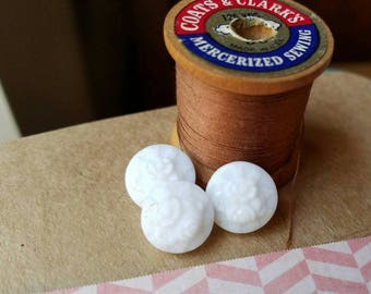 Antique white glass buttons