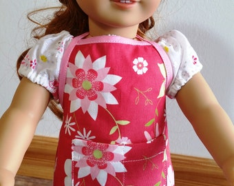 Apron made for the American Girl doll and similar 18 inch dolls