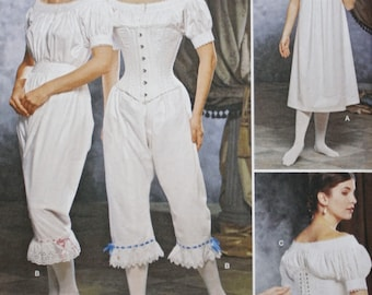 Authentic Civil War Undergarments, Costume Sewing Pattern,  Simplicity 1139,  Bust 30.5 - 34,  UNCUT, Fashion Historian