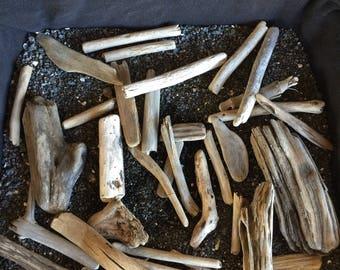 """Big island of hawaii driftwood :) 2-4"""" 30 pieces"""