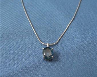 Large Montana Sapphire Pendant