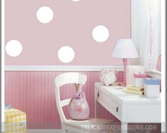 Polka Dot Wall Decals Set Of Polka Dots Peel And Stick Dots Nursery Polka  Dots Bedroom
