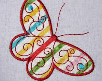 Butterfly Applique machine embroidery files 3x3, 4x4 and 5x7 - pes, sew, xxx, pec, vip, vp3, dst, hus, jef, exp