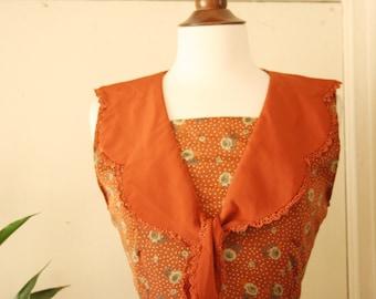 vintage orange marmalade dress S