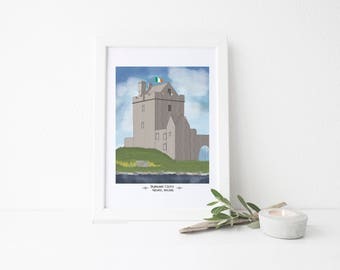 Ireland Travel Art Print - Dunguaire Castle