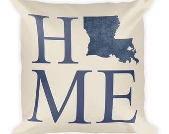 Louisiana Pillow, Louisiana Gifts, Louisiana Decor, Louisiana Home, Louisiana Throw Pillow, Louisiana Art, Louisiana Map, Made, Cushion