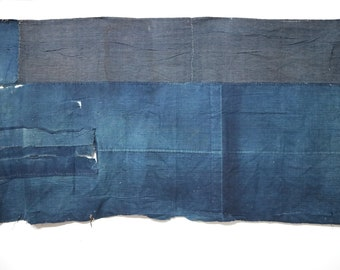 Vintage Japanese indigo BORO rug / cloth cottone