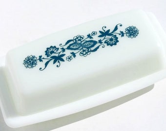 Pyrex Old Town Blue butter dish  US SELLER Corelle Corning 1972-1982