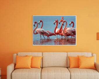 50%OFF,  Flamingo Digital Print Flamingo Wall Art Poster Art Pink Flamingo Printable Wall Decor Flamingo Room Decor,