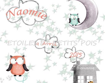 "Magnet ""OWL"" invitation version Naomi"