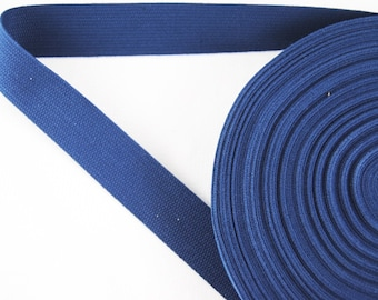Carrying strap - belt - tape - binding tape - cotton - dark blue