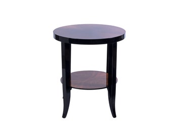 Chic Art Deco Two-Levels Round Side Table