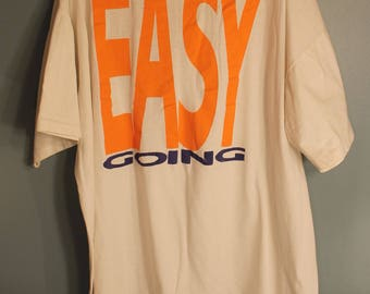 Vintage 80's Easy Going XL Cotton T-Shirt by Ross International Made in USA