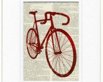 Bike in Red print