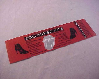 1981 The Rolling Stones Concert Ticket Candlestick Park San Francisco