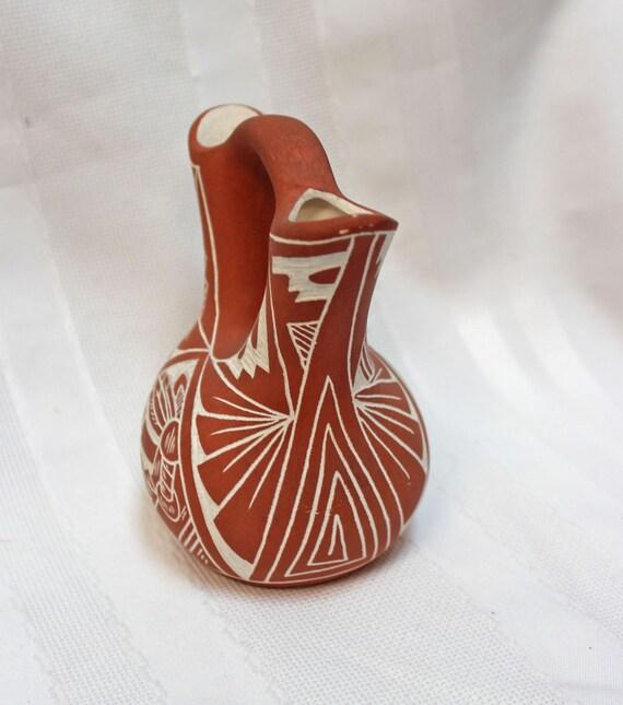 Wedding Vase Small Signed Ac Acoma Nm Alisha Chino