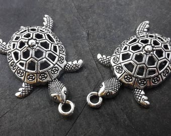 Large turtle pendant turtle animal sea pendant, pendant ethnic ocean, 4 cm