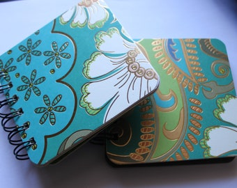 Teal / Green / Gold - Post It Note Holder Planner - Set of 2