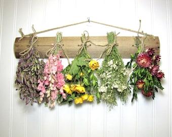 Dried Flower Rack, Drying Rack, Dried Flower Arrangement, Farmhouse Decor