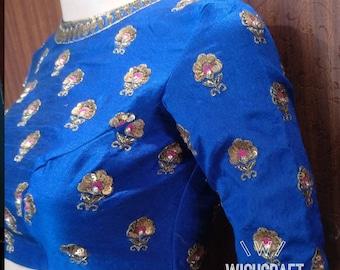 Designer embroidery saree blouse