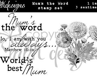 Mum's the Word Digital Stamp Set