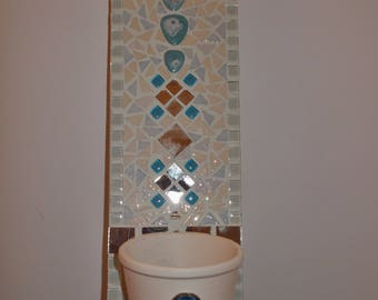 Mosaic wall plant holder