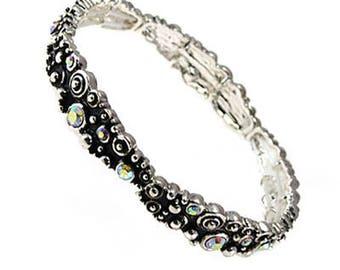 AB Crystal Stretch Bracelet