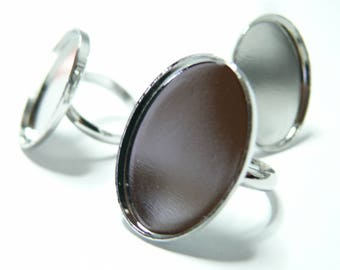 10 pieces oval PP 25 par18 mm thin ring