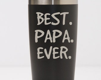 Best Papa Ever Stainless Steel Tumbler, Gift for Papa from Kids, Father's Day Gift for Grandpa, Grampy Gift for Fathers Day,20 30 oz Tumbler