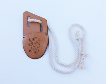 Leather sheath for dagger or sword. Perfect for knights costume and pretend play.
