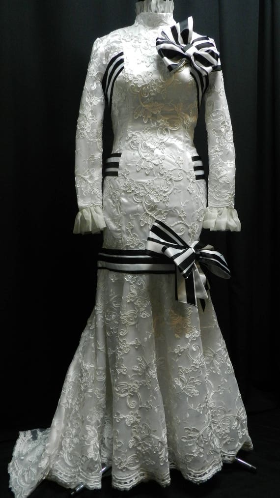 Inspired by My fair lady Eliza Doolittle white lace dress