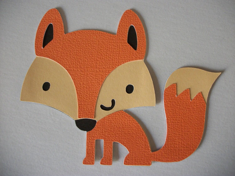 Cricut Create a Critter Fox winter Die Cut Paper Piecing