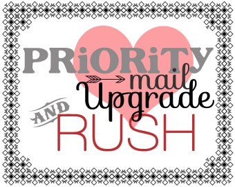 Priority Mail Upgrade and RUSH Fee