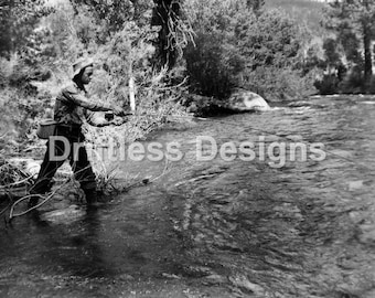 Vintage Photo Man Fly Fishing 2