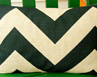 Black Tan/Beige Pillow Decorative Throw Pillow Cover Lumbar Cushion Chevron Couch Pillow Bed Pillow Tan Black Childrens Pillow ALL SIZES