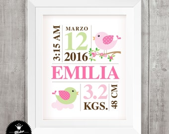 Blade's birth - Birth Announcement - Wall Art Print - printable personalized Custom Personalized Printable File - Kids decor