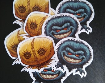 Critters and Sam Vynl Stickers (1 of each)