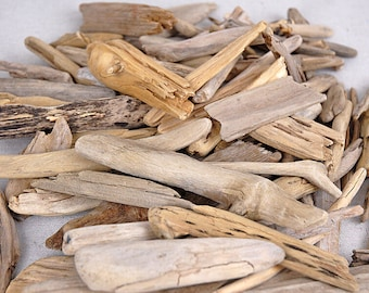 Beach wood sourced from isolated beaches