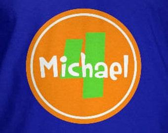 Personalized Custom Circle Birthday T Shirt